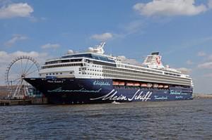 Die Mein Schiff 1 im Hamburger Hafen. Foto: Rainer Lippert