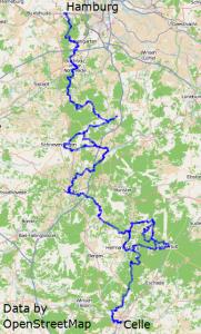 Heidschnuckenweg Wanderweg Streckenverlauf von Smarties