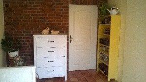 Tür zwischen Gartenzimmer und Küche